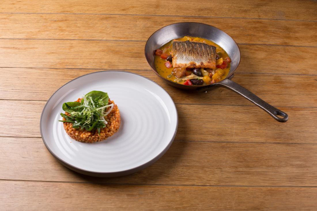 Ryba po ligurijsku a rajčatová tarhoňa