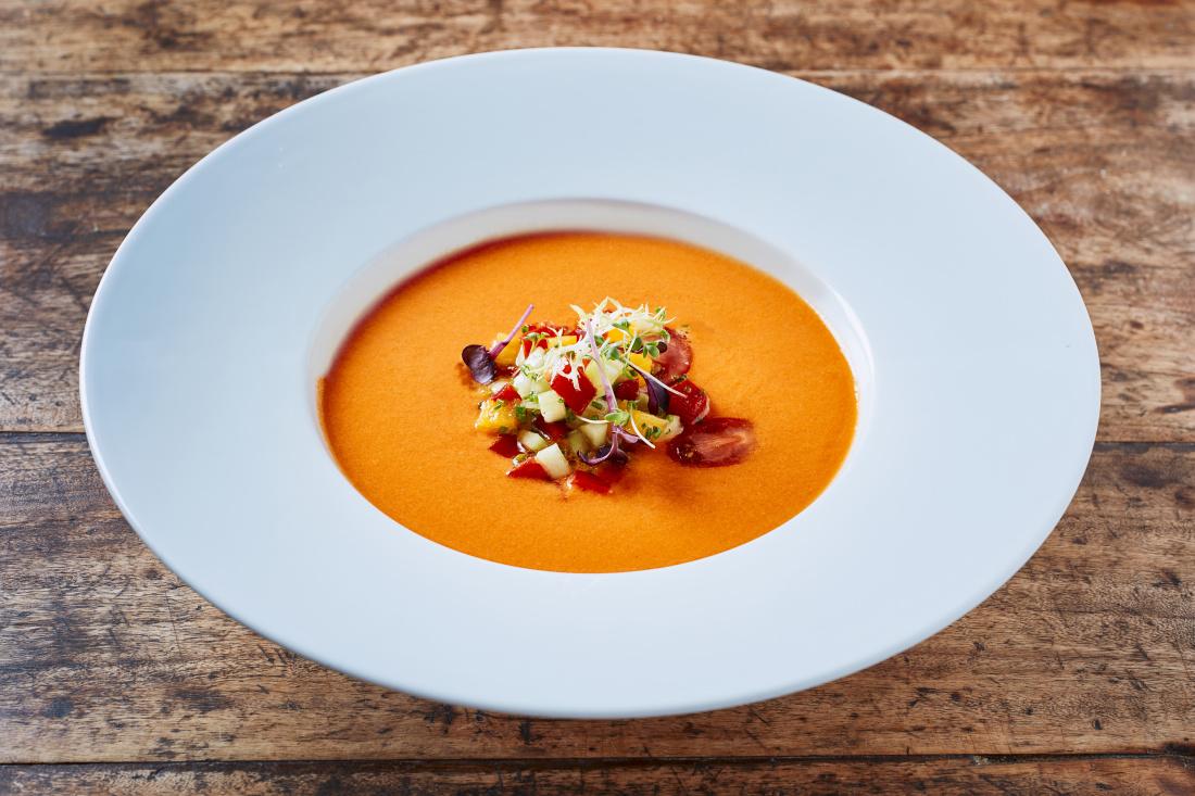 Gazpacho – studená polévka ze zeleniny s olivovým olejem